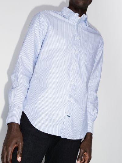 button-down striped cotton shirt