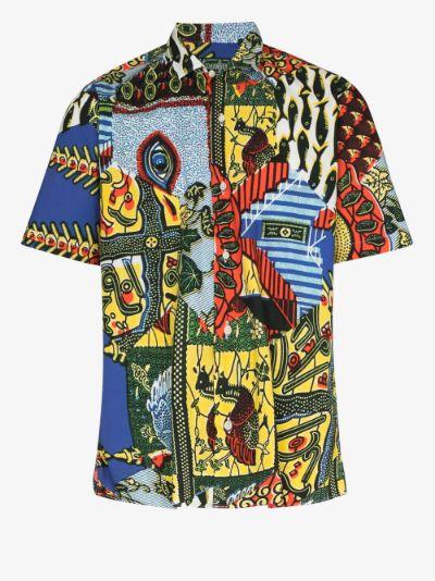 Fish Eye Print Short Sleeve Shirt