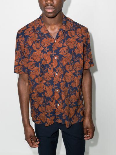 Floral Voile Camp cotton shirt