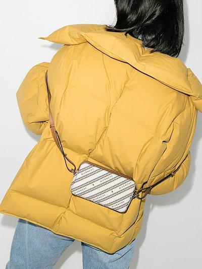 beige Chain bond cross body bag