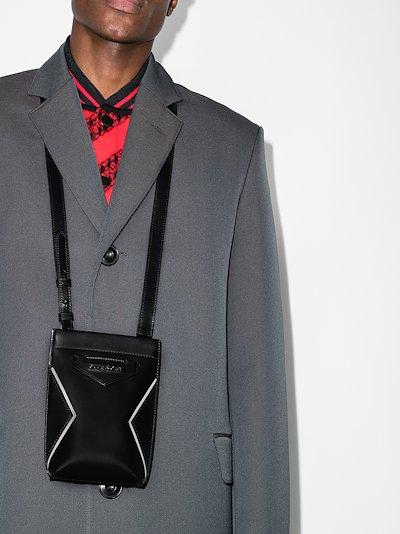 black Antigona leather phone pouch