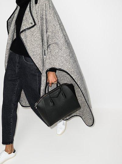 black Antigona medium leather tote bag