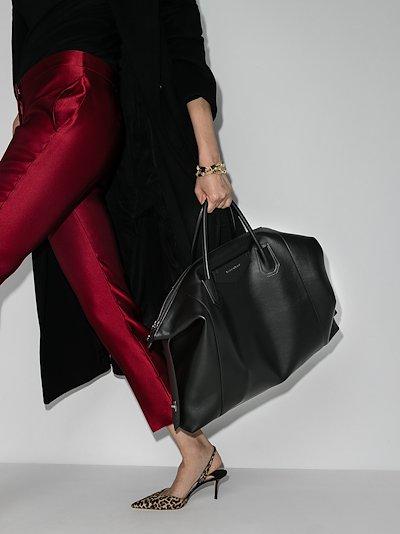 black Antigona Soft large leather tote bag