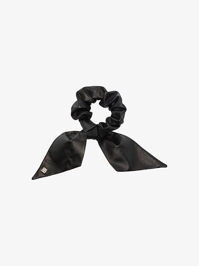 Black bow leather bracelet