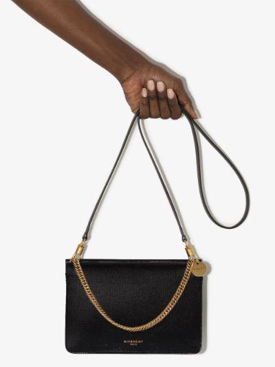 Black Cross3 leather cross body bag