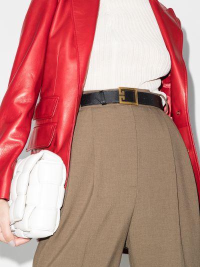 black GV3 leather belt