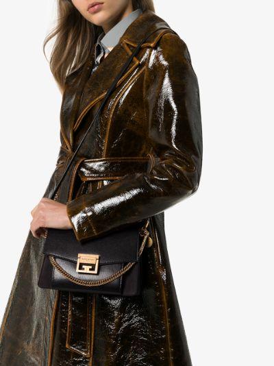 Black GV3 medium leather cross body bag