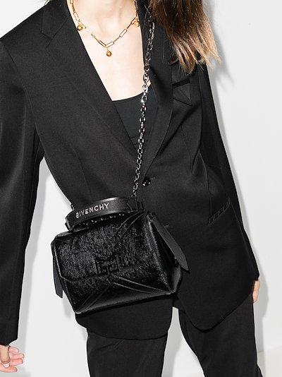 black ID small leather shoulder bag