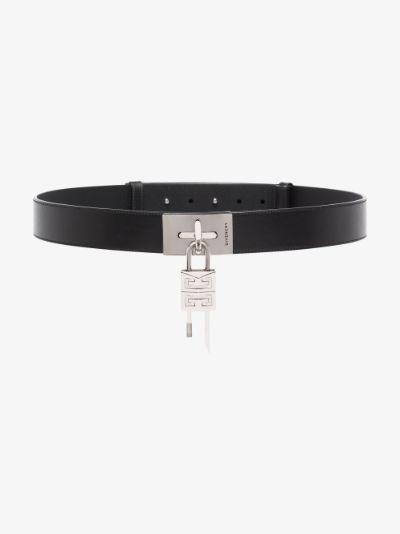 Black Lock Leather Belt
