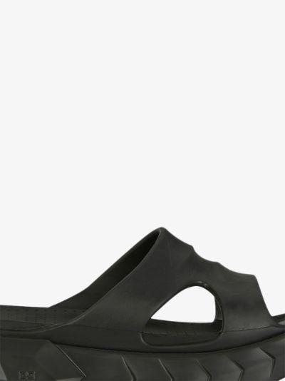 Black Marshmallow Flatform Sandals