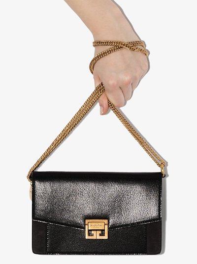 Black Mini GV3 Leather Shoulder Bag