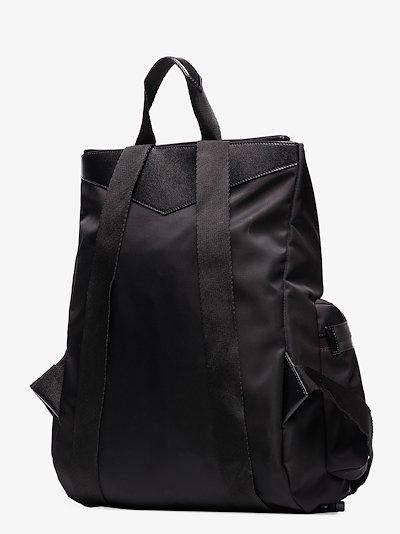 black Spectre logo print backpack