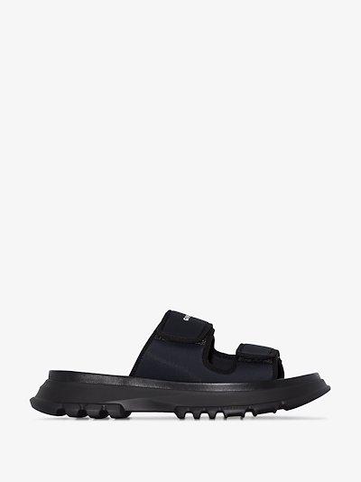 black Spectre sandals