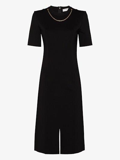 chain detail midi dress