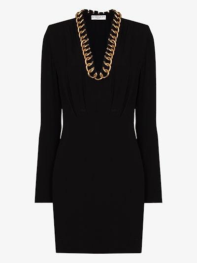 chain detail mini dress