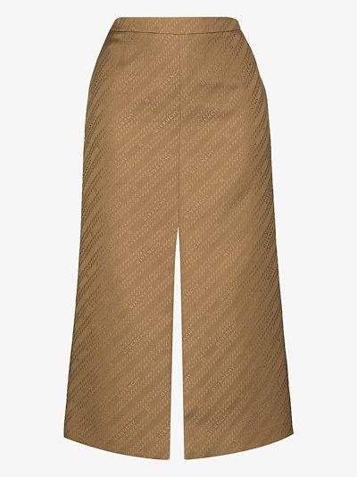 chain logo pencil skirt