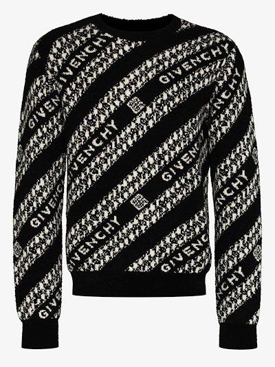 Chain Logo Wool Sweater