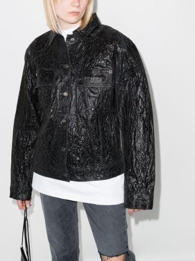 crinkled denim jacket