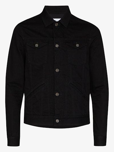 embroidered logo denim jacket