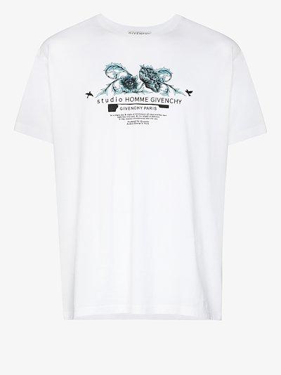Flower logo print T-shirt