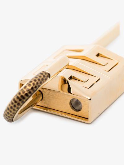 Gold tone small 4G logo padlock