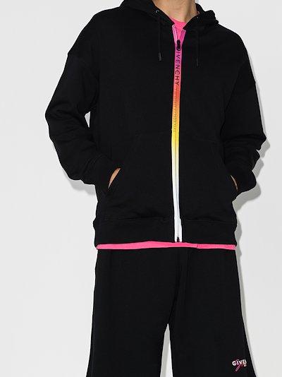 Gradient rainbow zip hoodie