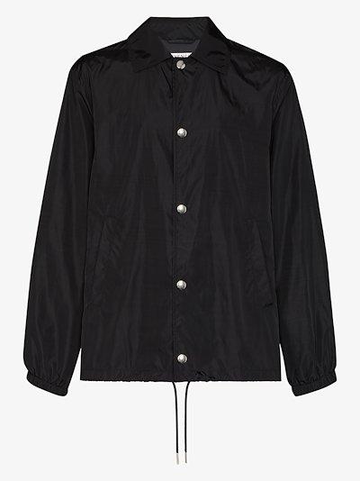 logo print windbreaker jacket