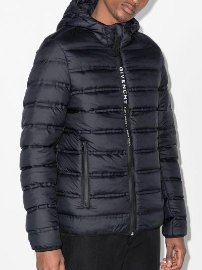 logo zip padded jacket