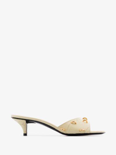 neutral 45 embellished leather sandals