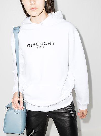 paris logo print hoodie