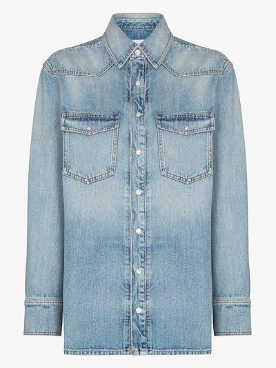 patch pocket denim shirt