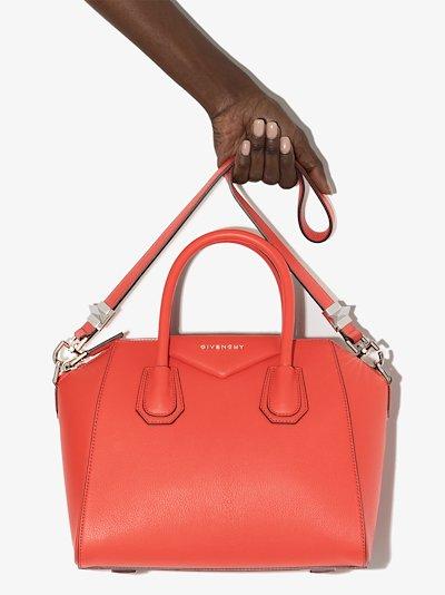 red Antigona small leather tote bag