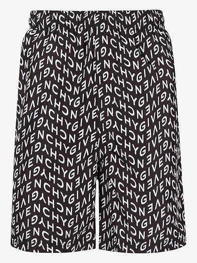 Refracted logo swim shorts
