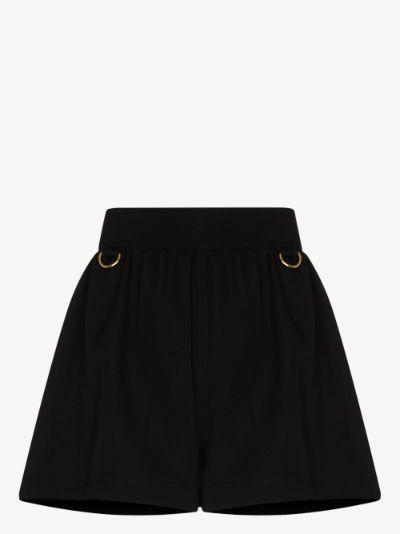 ring detail tailored shorts