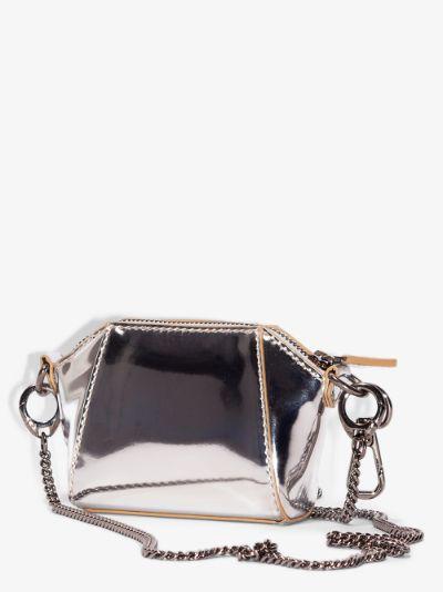 Silver tone Baby Antigona leather cross body bag