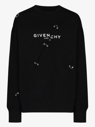 trompe-l'œil logo print sweatshirt