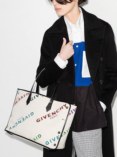 white Bond medium cotton tote bag