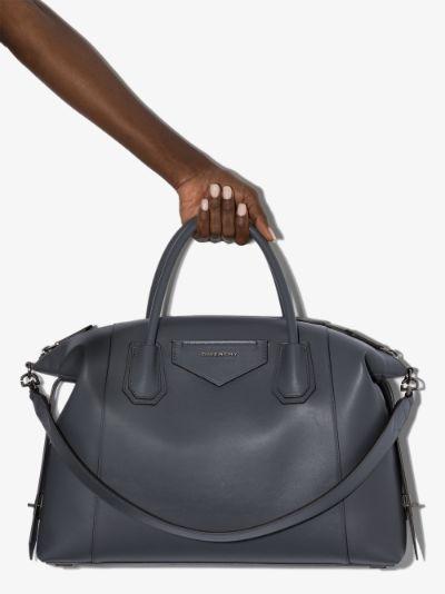 X Browns 50 grey Antigona soft leather tote bag