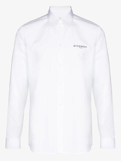 X Browns 50 logo patch cotton shirt