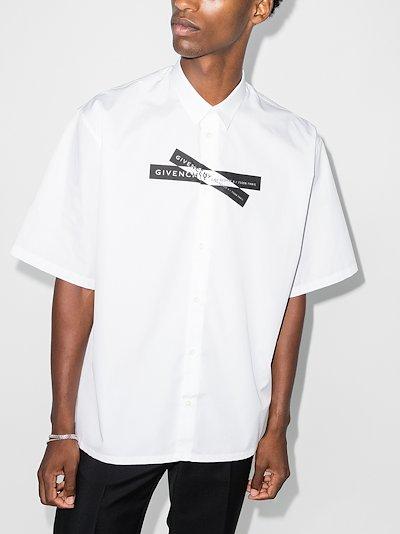 X Browns 50 logo tape cotton shirt