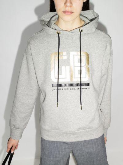 Fiza logo print hoodie