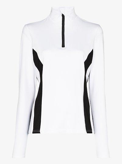 Hila sequinned logo ski top