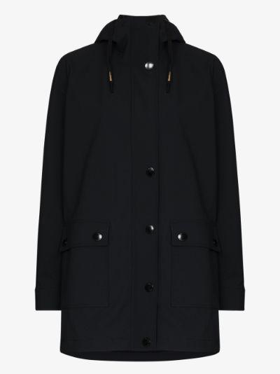 Odelia hooded press popper jacket