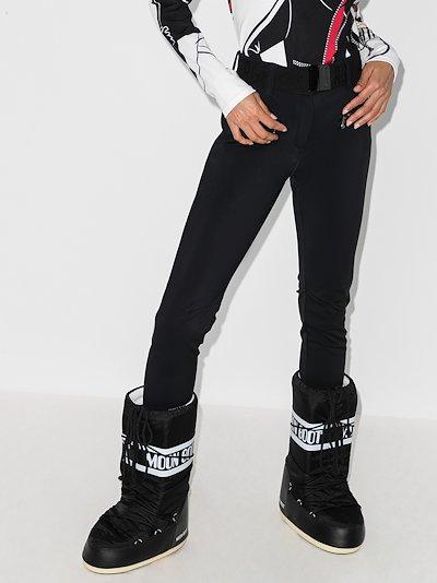 Paris belted stirrup ski trousers