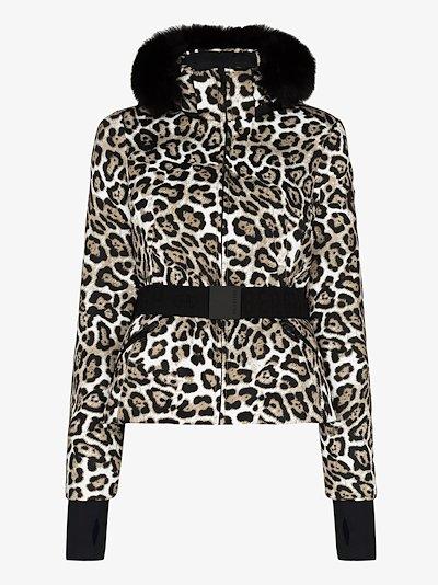 Wild Leopard print ski jacket