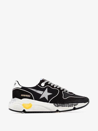 Black Running Sole suede sneakers