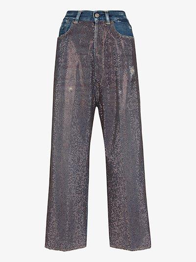 Breezy rhinestone embellished jeans
