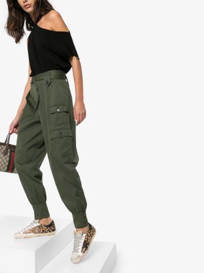 brown Super-Star leopard print sneakers