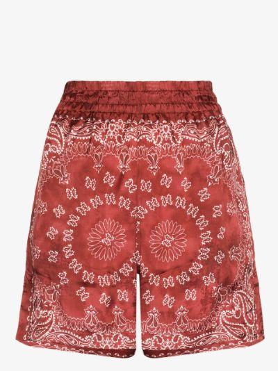 Cinderella bandana print satin shorts