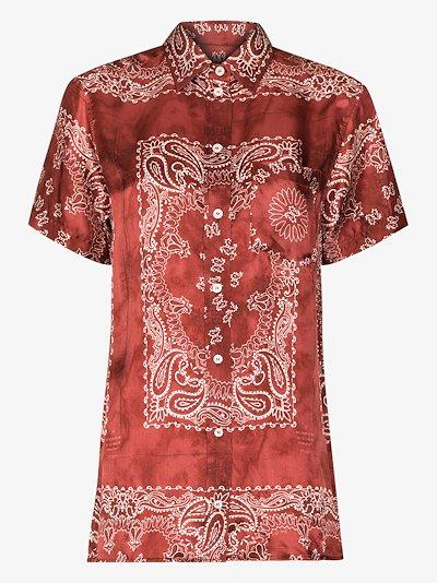Clarissa paisley print shirt